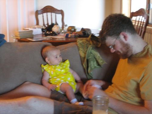 hanging out with Uncle Jamie
